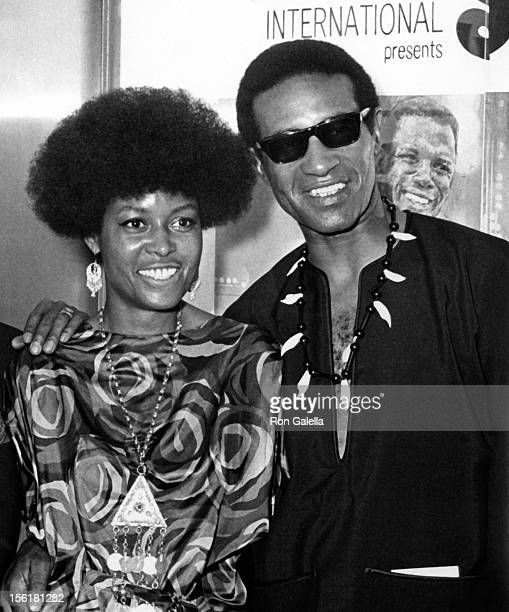 Actress/singer Abbey Lincoln and musician Max Roach attend the premiere of 'For Love Of Ivy' on July 16 1968 at Loew's Tower East Theater in New York...