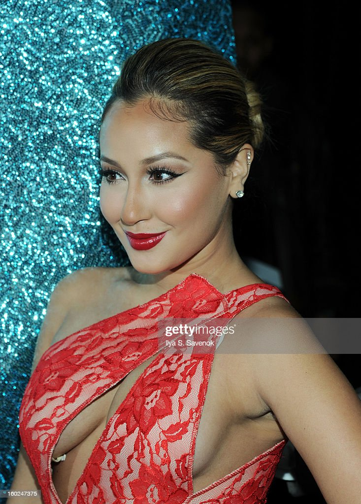 Actress/singer <a gi-track='captionPersonalityLinkClicked' href=/galleries/search?phrase=Adrienne+Bailon&family=editorial&specificpeople=540286 ng-click='$event.stopPropagation()'>Adrienne Bailon</a> attends the <a gi-track='captionPersonalityLinkClicked' href=/galleries/search?phrase=Adrienne+Bailon&family=editorial&specificpeople=540286 ng-click='$event.stopPropagation()'>Adrienne Bailon</a> Valentine's Day Cocktail Recipe Unveiling at Provacateur on January 28, 2013 in New York City.