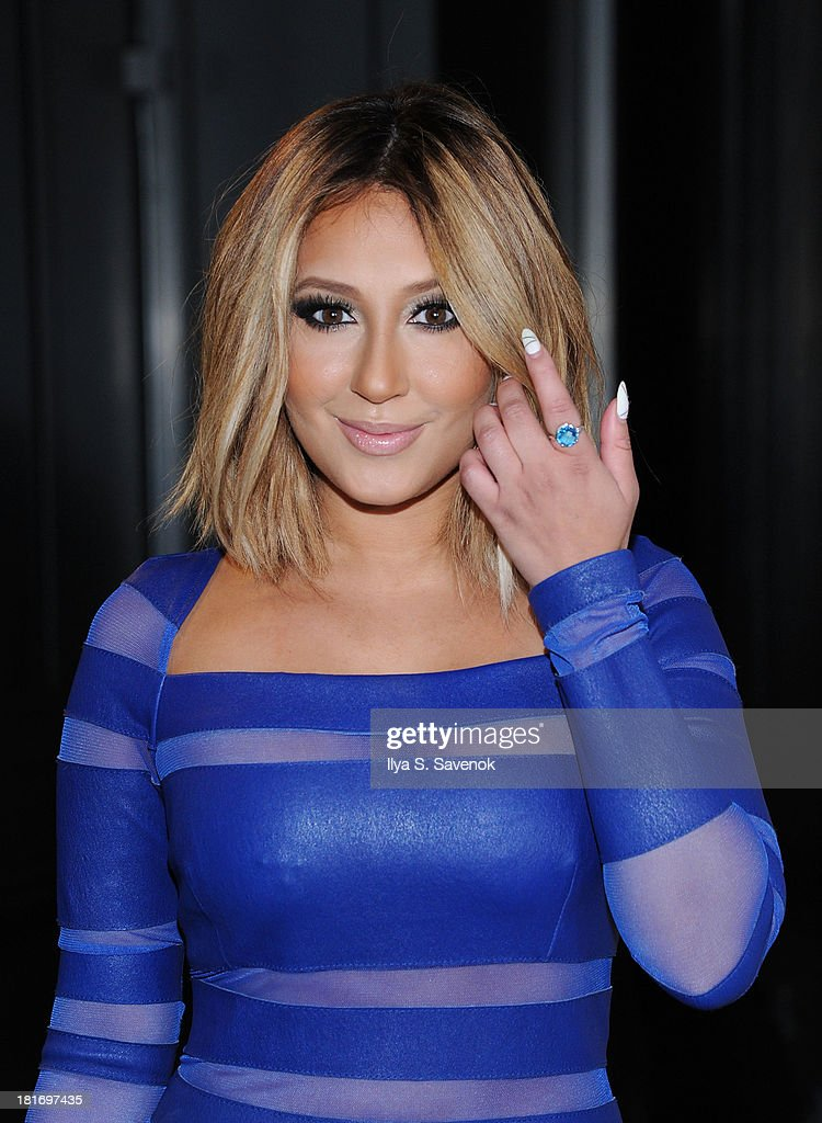 Actress/singer <a gi-track='captionPersonalityLinkClicked' href=/galleries/search?phrase=Adrienne+Bailon&family=editorial&specificpeople=540286 ng-click='$event.stopPropagation()'>Adrienne Bailon</a> attends The Sparkle Louder Program Launch Event at Provacateur on September 23, 2013 in New York City.