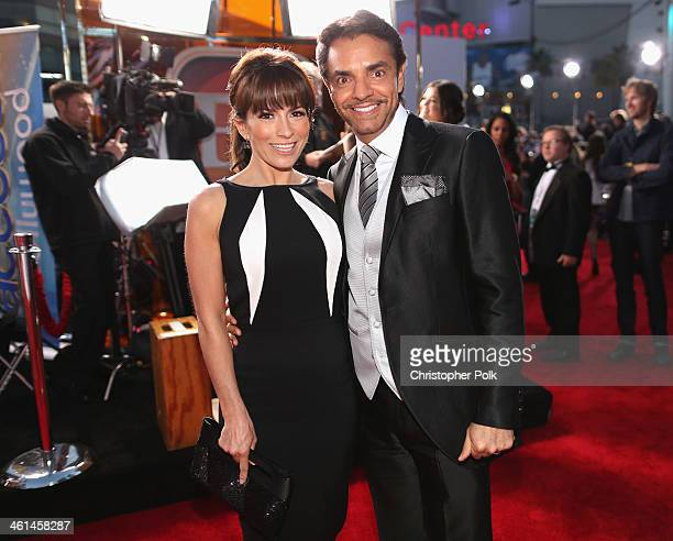 Actress/singer Alessandra Rosaldo and actor Eugenio Derbez attend The 40th Annual People's Choice Awards at Nokia Theatre LA Live on January 8 2014...