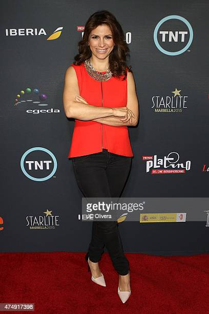 Actress/singer Alessandra Rosaldo attends the 2nd Annual Premios Platinos of Iberoamerican Cinema nominations announcement at Andaz Hotel on May 27...