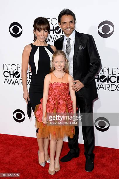 Actress/singer Alessandra Rosaldo Loreto Peralta and actor Eugenio Derbez attend The 40th Annual People's Choice Awards at Nokia Theatre LA Live on...