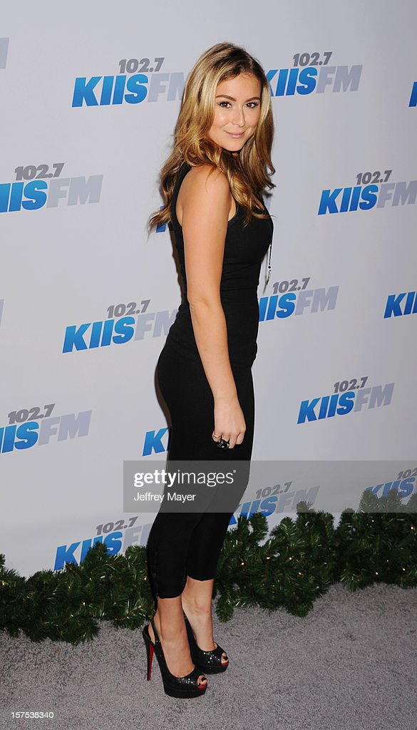 Actress/singer Alexa Vega attends the KIIS FM's Jingle Ball 2012 held at Nokia Theatre LA Live on December 3, 2012 in Los Angeles, California.