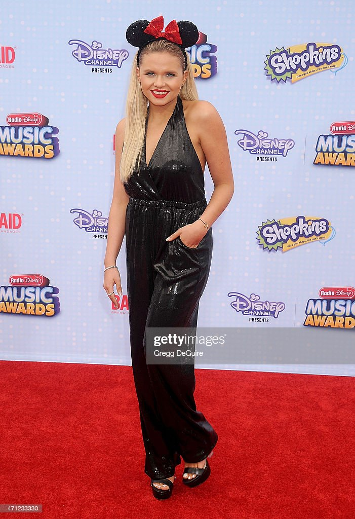 Actress/singer Alli Simpson arrives at the 2015 Radio Disney Music Awards at Nokia Theatre LA Live on April 25 2015 in Los Angeles California