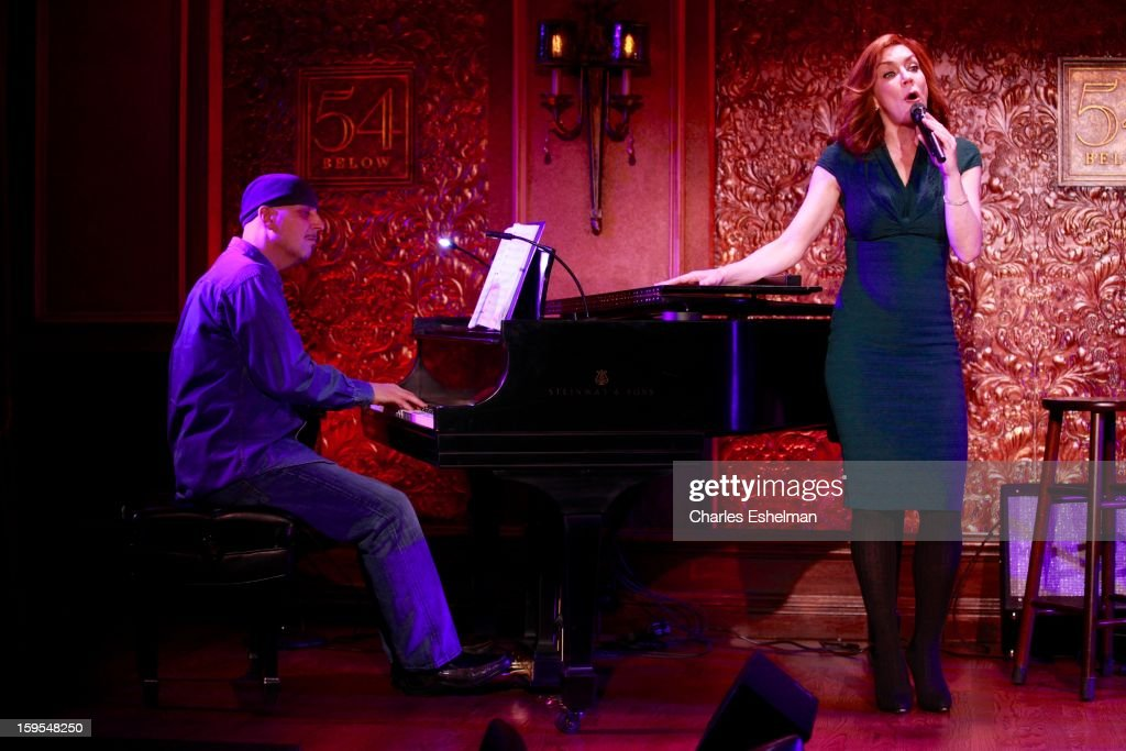Actress/singer <a gi-track='captionPersonalityLinkClicked' href=/galleries/search?phrase=Andrea+McArdle&family=editorial&specificpeople=1042403 ng-click='$event.stopPropagation()'>Andrea McArdle</a> performs at 54 Below on January 15, 2013 in New York City.