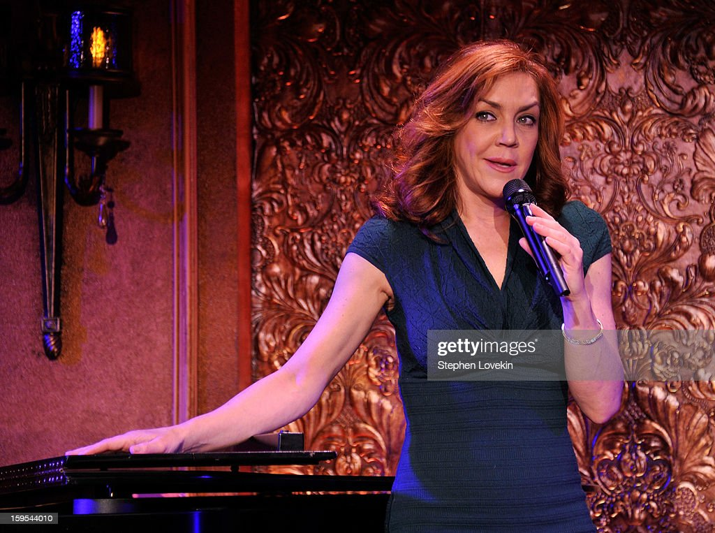 Actress/singer Andrea McArdle performs at a special press preview at 54 Below on January 15, 2013 in New York City.