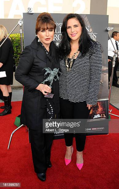 Actress/singer Angelica Maria and actress Angelica Vale attend Universal Studios Hollywood Celebration for 'Halloween Horror Nights' With The Eyegore...