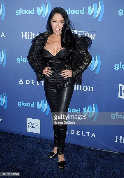 Actress/singer Apollonia Kotero arrives at the 26th Annual GLAAD Media Awards at The Beverly Hilton Hotel on March 21 2015 in Beverly Hills California