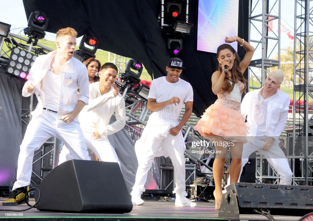 Actress/singer <a gi-track='captionPersonalityLinkClicked' href=/galleries/search?phrase=Ariana+Grande&family=editorial&specificpeople=5586219 ng-click='$event.stopPropagation()'>Ariana Grande</a> performs at 102.7 KIIS FM's Wango Tango at The Home Depot Center on May 11, 2013 in Carson, California.