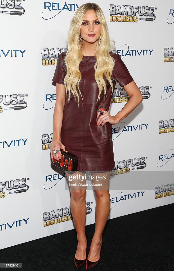 Actress/singer <a gi-track='captionPersonalityLinkClicked' href=/galleries/search?phrase=Ashlee+Simpson&family=editorial&specificpeople=201809 ng-click='$event.stopPropagation()'>Ashlee Simpson</a> attends the BandFuse: Rock Legends video game launch event at House of Blues Sunset Strip on November 12, 2013 in West Hollywood, California.