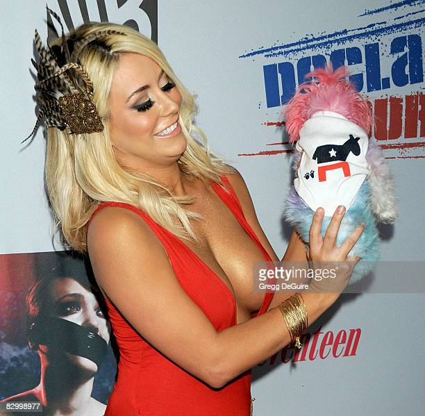 Actress/singer Aubrey O'Day arrives at Declare Yourself's 'Domino Effect' Hollywood Event at The Green Door on September 24 2008 in Hollywood...