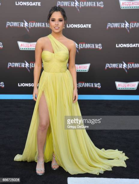 Actress/singer Becky G arrives at the premiere of Lionsgate's 'Power Rangers' at The Village Theatre on March 22 2017 in Westwood California