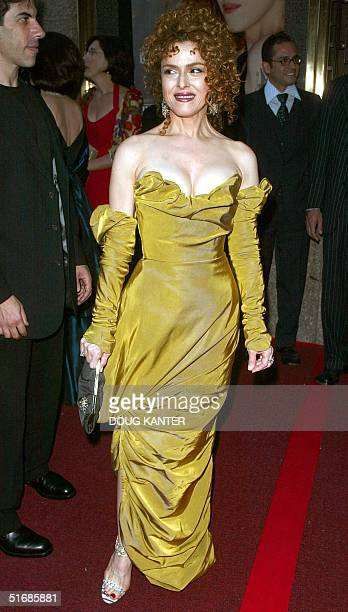 US actress/singer Bernadette Peters arrives at the 2002 Tony Awards in New York 02 June 2002 AFP PHOTO/Doug KANTER