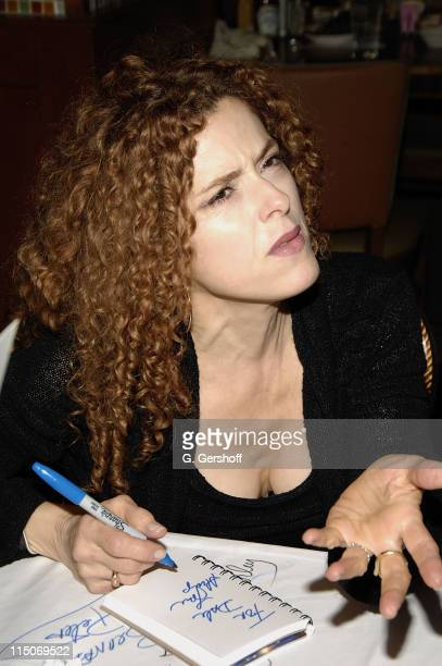Actress/Singer Bernadette Peters attends the 21st Annual Broadway Flea Market and Grand Auction at Shubert Alley and West 44th Street on September 23...