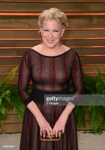 Actress/Singer Bette Midler arrives at the 2014 Vanity Fair Oscar Party Hosted By Graydon Carter on March 2 2014 in West Hollywood California