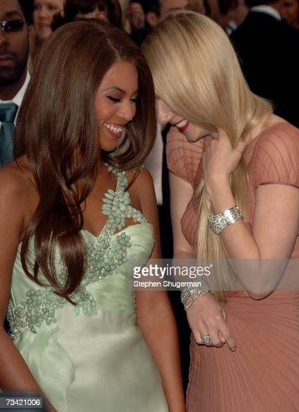 Actress/singer Beyonce Knowles and actress Gwyneth Paltrow attend the 79th Annual Academy Awards held at the Kodak Theatre on February 25 2007 in...