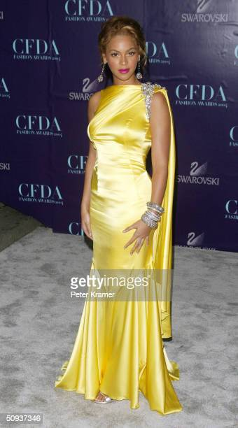 Actress/Singer Beyonce Knowles attends the 2004 CFDA Fashion Awards June 7 2004 in New York City