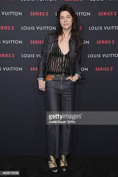 Actress/singer Charlotte Gainsbourg arrives at Louis Vuitton 'Series 2' The Exhibition on February 5 2015 in Hollywood California