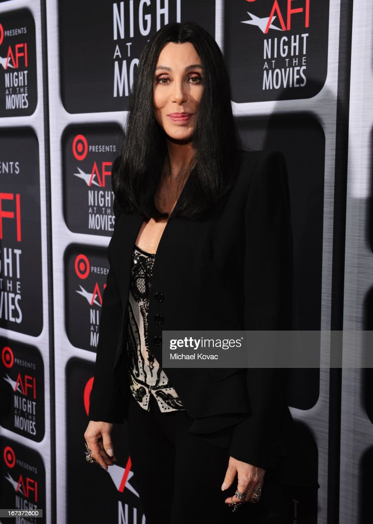 Actress/singer Cher arrives on the red carpet for Target Presents AFI's Night at the Movies at ArcLight Cinemas on April 24, 2013 in Hollywood, California.