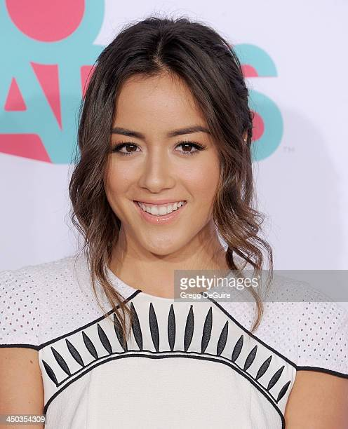 Actress/singer Chloe Bennet arrives at the 2013 TeenNick HALO Awards at the Hollywood Palladium on November 17 2013 in Hollywood California
