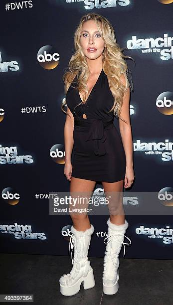 Actress/singer Chloe Lattanzi attends 'Dancing with the Stars' Season 21 at CBS Televison City on October 19 2015 in Los Angeles California