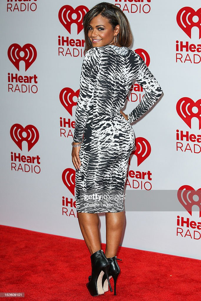 Actress/singer <a gi-track='captionPersonalityLinkClicked' href=/galleries/search?phrase=Christina+Milian&family=editorial&specificpeople=171274 ng-click='$event.stopPropagation()'>Christina Milian</a> arrives at iHeartRadio Music Festival press room at MGM Grand Garden Arena on September 22, 2012 in Las Vegas, Nevada.