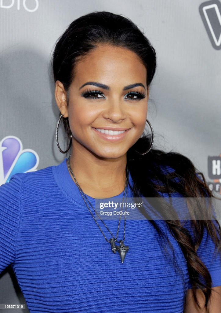 Actress/singer <a gi-track='captionPersonalityLinkClicked' href=/galleries/search?phrase=Christina+Milian&family=editorial&specificpeople=171274 ng-click='$event.stopPropagation()'>Christina Milian</a> arrives at NBC's 'The Voice' Season 4 premiere at House of Blues Sunset Strip on May 8, 2013 in West Hollywood, California.