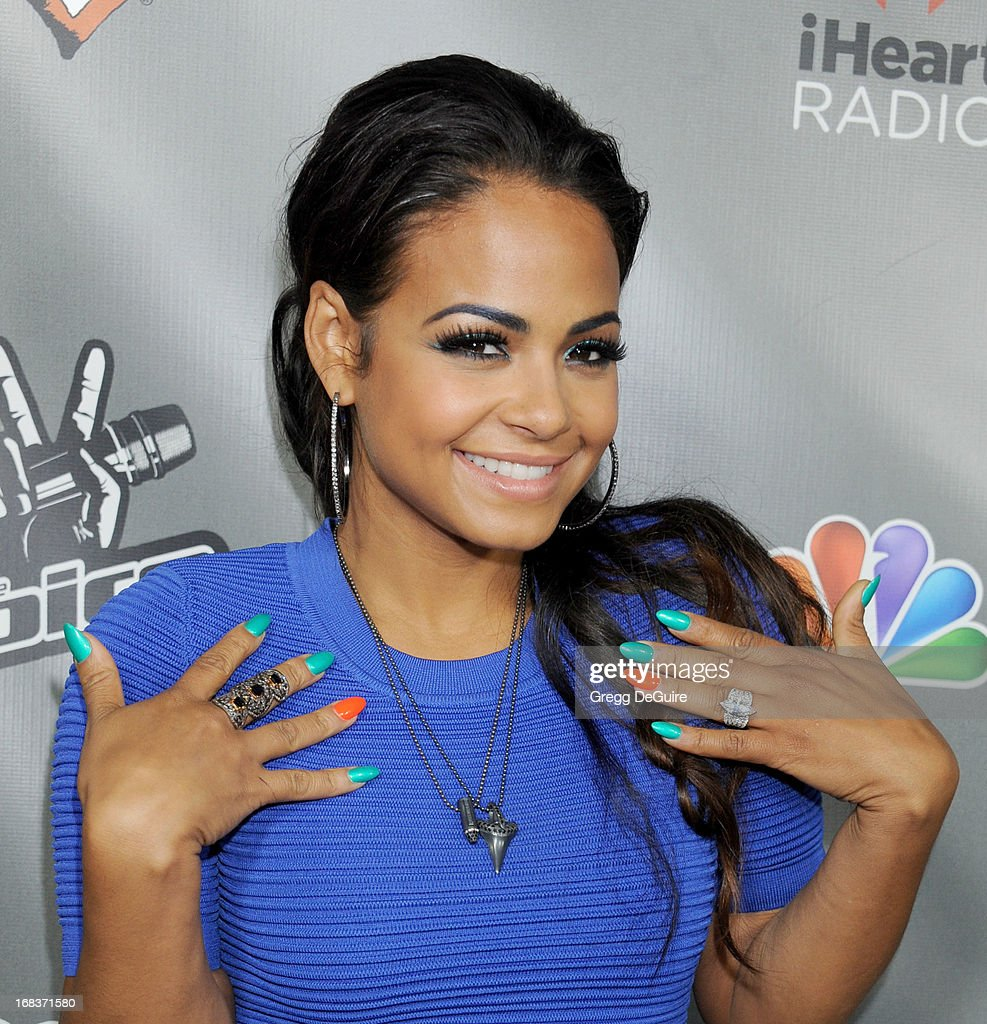 Actress/singer Christina Milian arrives at NBC's 'The Voice' Season 4 premiere at House of Blues Sunset Strip on May 8, 2013 in West Hollywood, California.