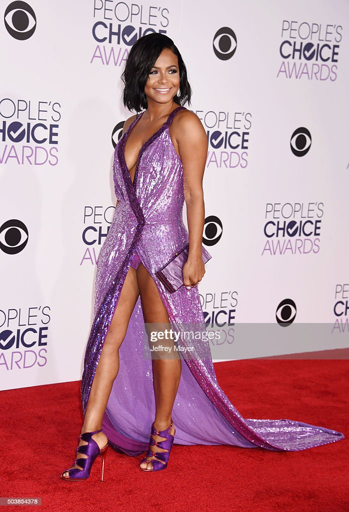 Actress/singer Christina Milian arrives at the 2016 People's Choice Awards at Microsoft Theater on January 6, 2016 in Los Angeles, California.