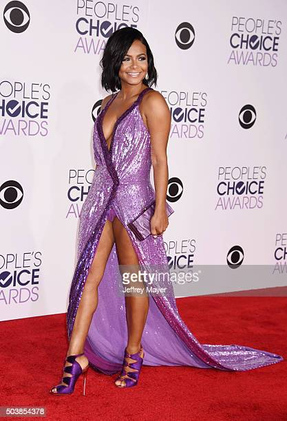 Actress/singer Christina Milian arrives at the 2016 People's Choice Awards at Microsoft Theater on January 6 2016 in Los Angeles California
