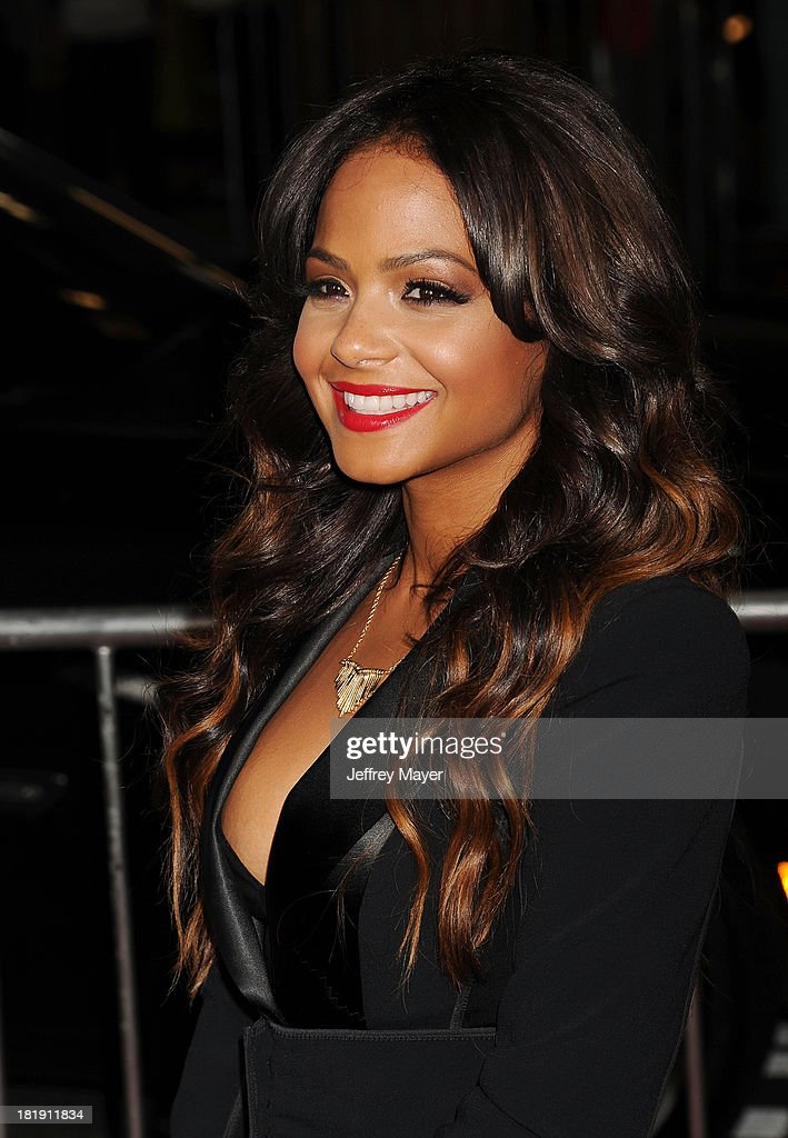 Actress/singer <a gi-track='captionPersonalityLinkClicked' href=/galleries/search?phrase=Christina+Milian&family=editorial&specificpeople=171274 ng-click='$event.stopPropagation()'>Christina Milian</a> arrives at the Los Angeles premiere of 'Baggage Claim' at Regal Cinemas L.A. Live on September 25, 2013 in Los Angeles, California.