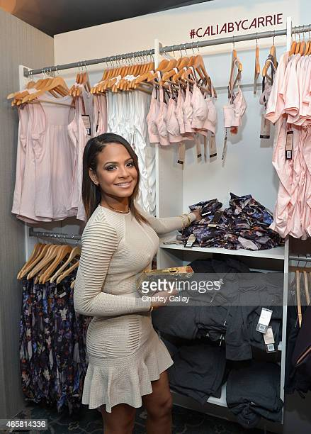 Actresssinger Christina Milian attends CALIA By Carrie Underwood Launch Event on March 10 2015 in West Hollywood California