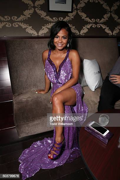 Actress/singer Christina Milian attends DailyMail's after party for 2016 People's Choice Awards at Club Nokia on January 6 2016 in Los Angeles...