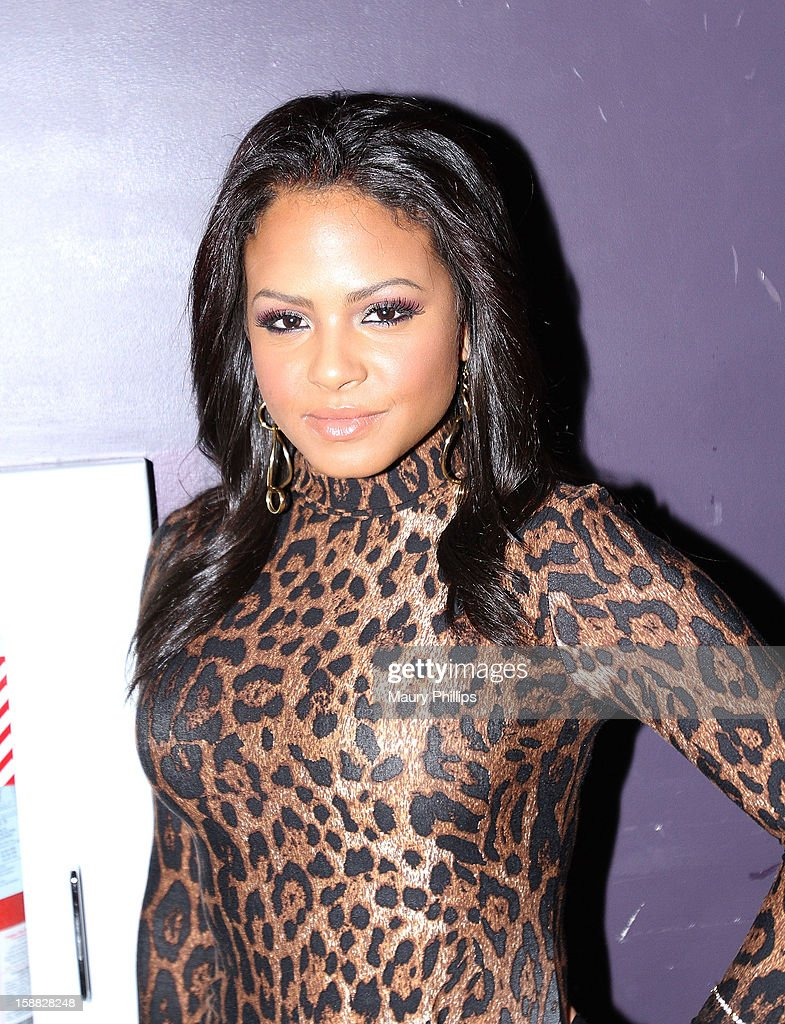Actress/singer <a gi-track='captionPersonalityLinkClicked' href=/galleries/search?phrase=Christina+Milian&family=editorial&specificpeople=171274 ng-click='$event.stopPropagation()'>Christina Milian</a> attends Real Husbands of Hollywood Kick off Party at The Conga Room at L.A. Live on December 29, 2012 in Los Angeles, California.