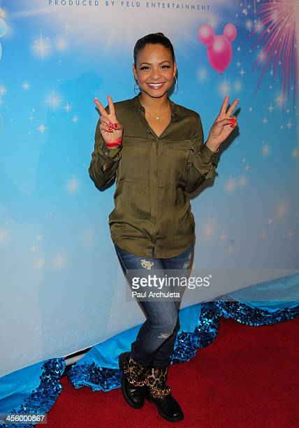 Actress/singer Christina Milian attends the Disney On Ice 'Rockin' Ever After' at Staples Center on December 12 2013 in Los Angeles California