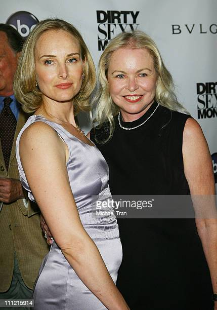 Actress/singer Chynna Phillips and mother Michelle Phillips arrives at the 'Dirty Sexy Money' Premiere at Paramount Theatre on September 23 2007 in...