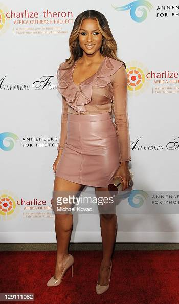 Actress/Singer Ciara arrives at the Charlize Theron Africa Outreach Project at Annenberg Space For Photography on October 12 2011 in Century City...