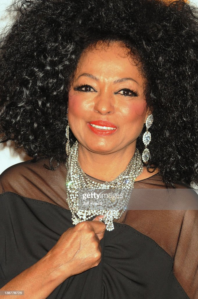 Actress/Singer <a gi-track='captionPersonalityLinkClicked' href=/galleries/search?phrase=Diana+Ross&family=editorial&specificpeople=202836 ng-click='$event.stopPropagation()'>Diana Ross</a> arrives at Clive Davis and the Recording Academy's 2012 Pre-GRAMMY Gala and Salute to Industry Icons Honoring Richard Branson held at The Beverly Hilton Hotel on February 11, 2012 in Beverly Hills, California.