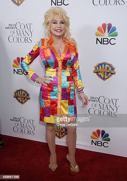 Actress/singer Dolly Parton arrives at the premiere of Warner Bros Television's 'Dolly Parton's Coat Of Many Colors' at the Egyptian Theatre on...