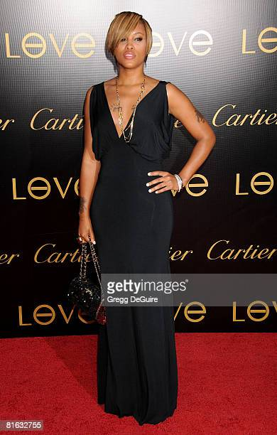 Actress/singer Eve arrives at the Cartier Charity Love Bracelet Launch on June 18 2008 at a Private Residence in Los Angeles California