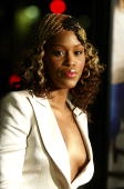 Actress/singer Eve arrives at the premiere of MGM's 'Barbershop 2 Back in Business' at the Chinese Theatre on January 20 2004 in Los Angeles...