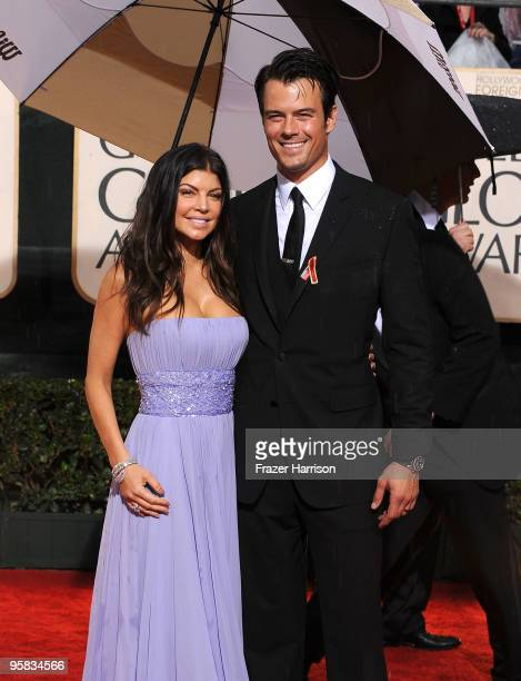 Actress/singer Fergie and actor Josh Duhamel arrive at the 67th Annual Golden Globe Awards held at The Beverly Hilton Hotel on January 17 2010 in...