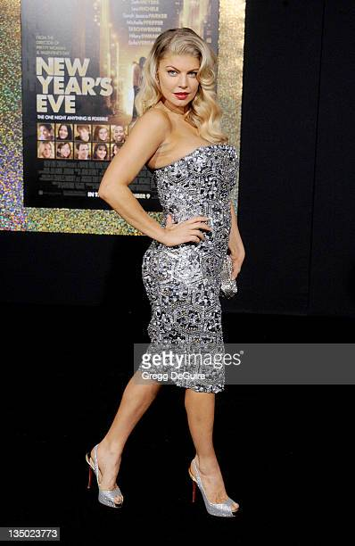 Actress/singer Fergie arrives at the 'New Year's Eve' Los Angeles Premiere at Grauman's Chinese Theatre on December 5 2011 in Hollywood California