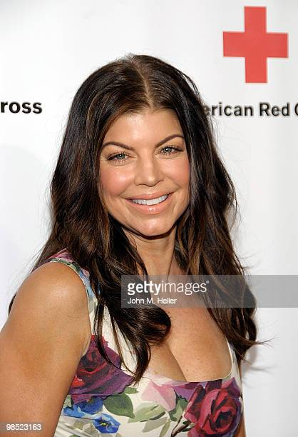 Actress/singer Fergie attends the Annual Red Cross of Santa Monica's Annual 'Red Tie Affair' at the Fairmont Miramar Hotel on April 17 2010 in Santa...