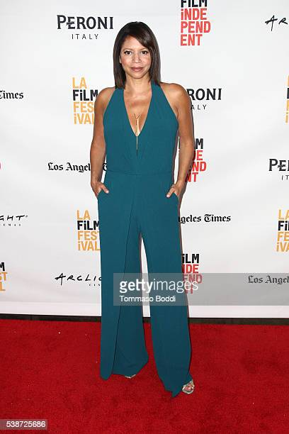 Actress/singer Gloria Reuben attends the premiere of 'Jean of the Joneses' during the 2016 Los Angeles Film Festival at Arclight Cinemas Culver City...