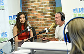 Actress/singer Hailee Steinfeld and Elvis Duran talk on the 'The Elvis Duran Z100 Morning Show' to celebrate Elvis Duran's birthday at Z100 Studio on...