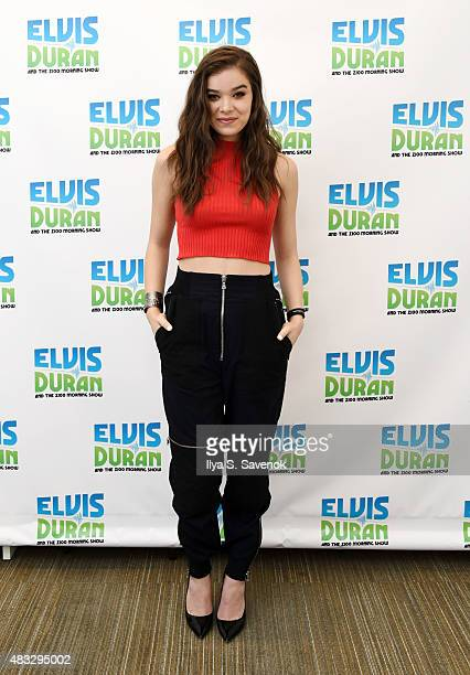 Actress/singer Hailee Steinfeld visits the 'The Elvis Duran Z100 Morning Show' to celebrate Elvis Duran's birthday at Z100 Studio on August 7 2015 in...
