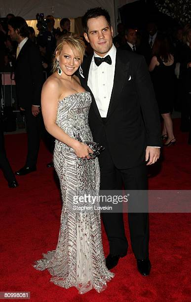 Actress/singer Hilary Duff and NHL player Mike Comrie arrive at the Metropolitan Museum of Art Costume Institute Gala Superheroes Fashion and Fantasy...