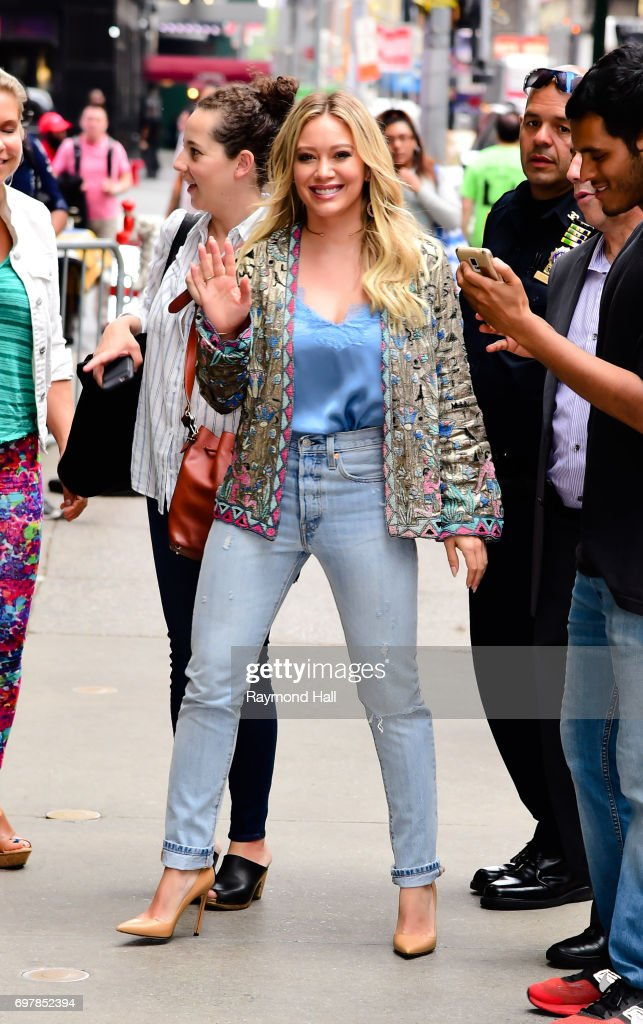 Actress/Singer Hilary Duff is seen walking in Soho on June 19, 2017 in New York City.