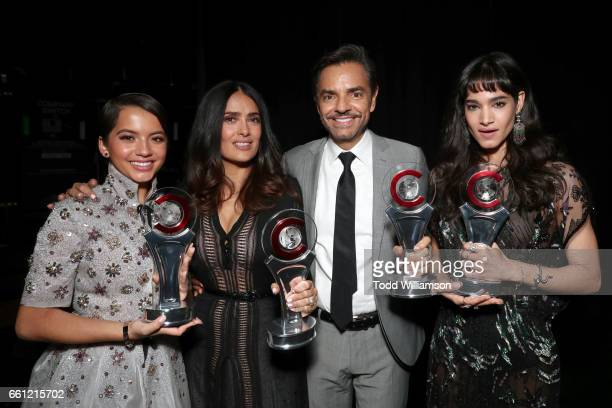 Actress/singer Isabela Moner recipient of the Rising Star of the Year Award Entertainer Eugenio Derbez recipient of the International Achievement in...